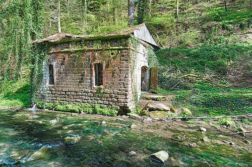 cr121 cantonechternach luxembourg lëtzebuerg waldbillig abandoned house river mullerthall littleswitzerland ruin mill
