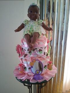 "Baby Princess ""Tiana"" Training Pants cake"