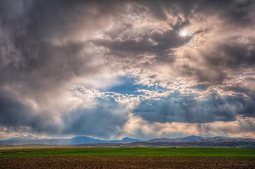 sky cloud sun weather clouds skyscape landscape nikon farm farming fortcollins co sunburst rays openspace agriculture hdr crepuscularrays crepuscular larimer wx clff d700 longviewfarm