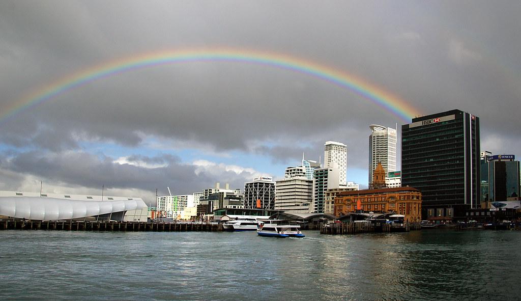 Auckland under the Rainbow.