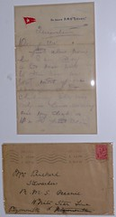 Titanic Survivor Letter and Envelope, 1912