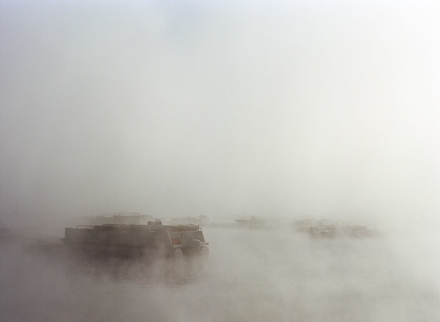 Boat Launch in Fog