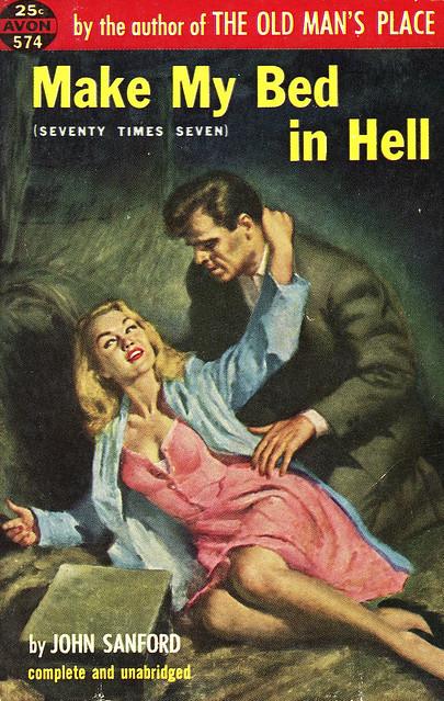 Avon Books 574 - John Sanford - Make My Bed in Hell