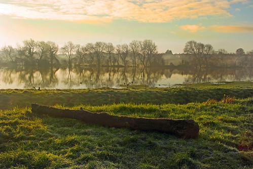 winter england mist sunrise day cloudy somerset floods bridgwater meads blinkagain bestofblinkwinners