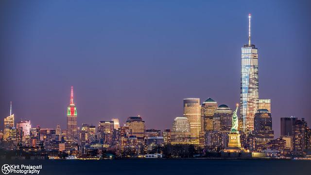 New York City At Nightfall
