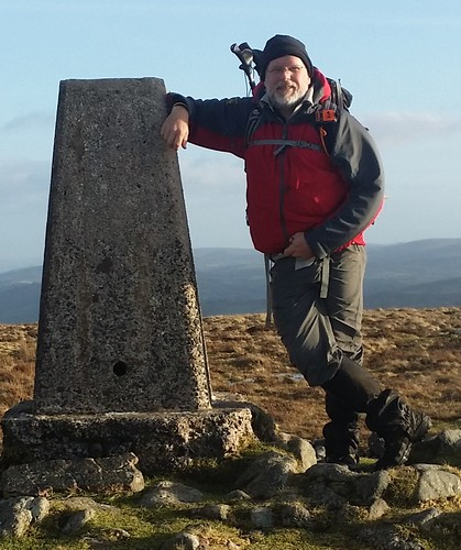 Me at the trig on Cosdon Hill | by moorlandwalker