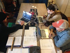 Tue, 2015-01-27 12:58 - Paper tech is the time where the director and stage manager walk through the script to discuss the moments where cues and big spectacle need to happen.
