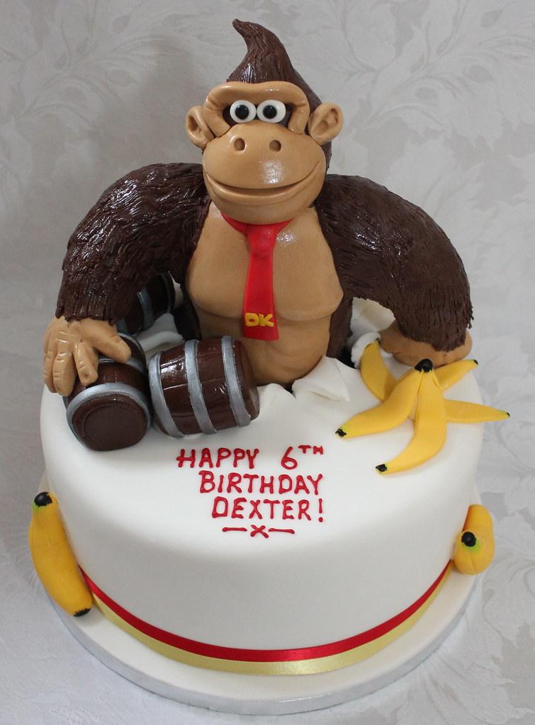 Stupendous Donkey Kong Birthday Cake Pauls Creative Cakes Flickr Funny Birthday Cards Online Amentibdeldamsfinfo