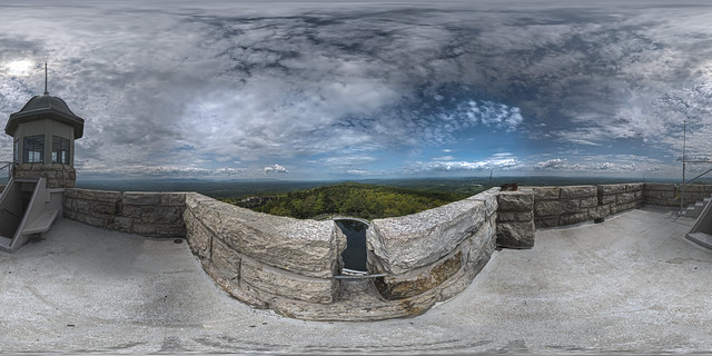 Skytop Tower at Mohonk Mountain House Panorama