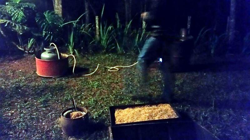 Dia do Ceramista 9 A água, o Forno e o Abafador com palha de arroz