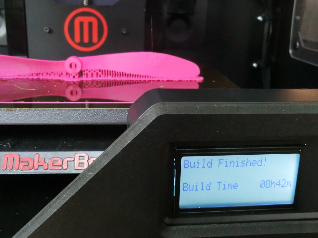 3D-printed propeller for model airplane   The 3D printer: ma