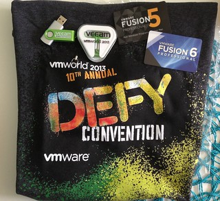 I didn't get to go to #VMworld but I still got some cooll swag thanks to @mbsnick and @veeam | by wantmoore