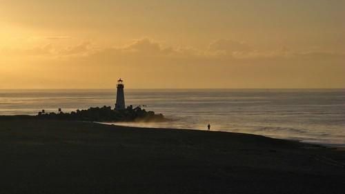 california santacruz lighthouse beach dawn seabright earlymorninglight