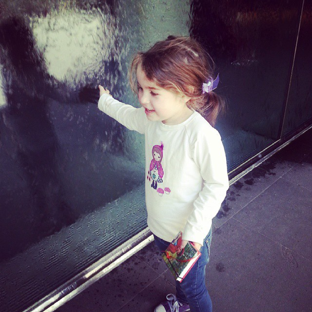 Emily meets the water wall #curriculumday #melbourne #ngv