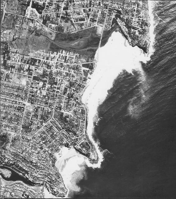 Curl Curl & Harbord 1953 -  Sydney aerial photo