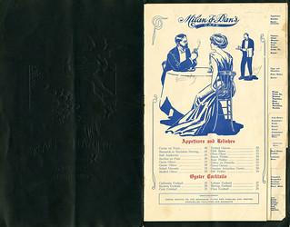 Menu, Milan and Dan Restaurant, Café & Grill, San Francisco [open] | by California Historical Society Digital Collection
