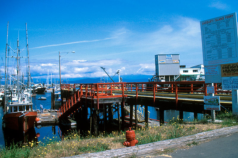 Government Wharf in French Creek, Vancouver Island, British Columbia, Canada