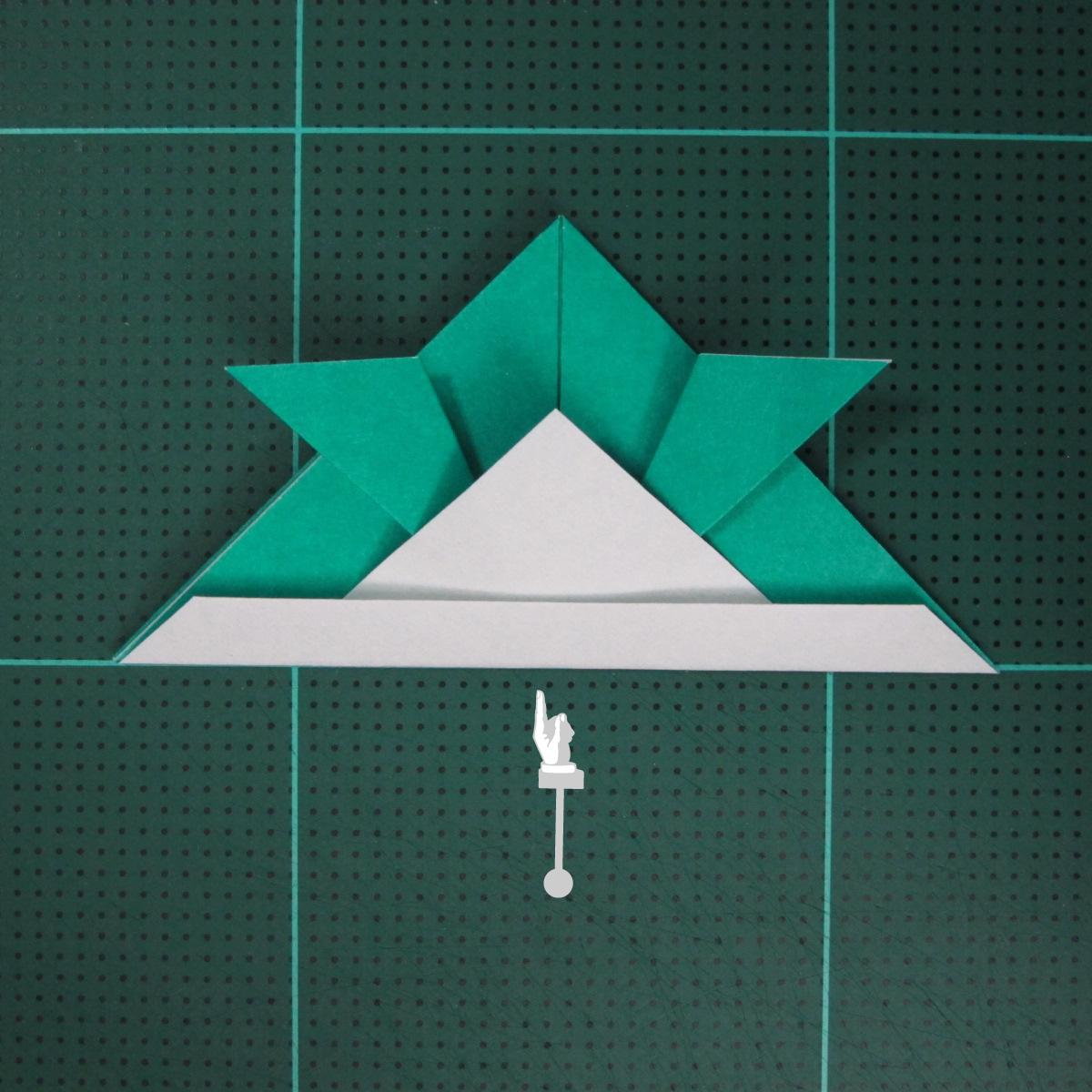 วิธีพับกระดาษเป็นรูปหมวกซามุไร (Origami Samurai Hat) 011