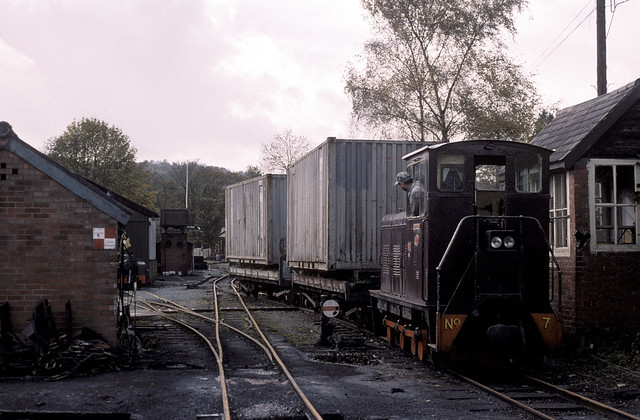 The short-lived intermodal service to Llanfair, 1999.