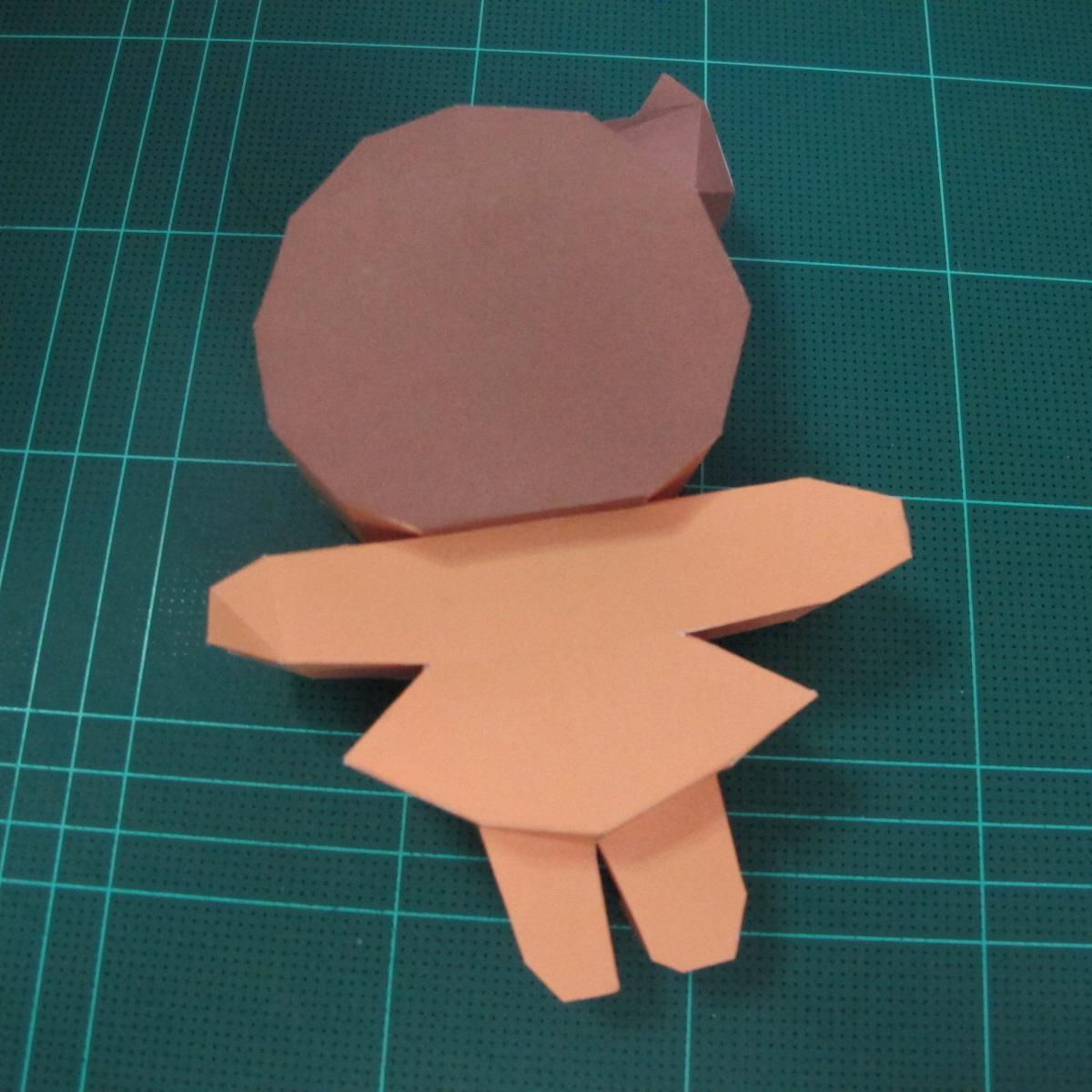 วิธีทำโมเดลกระดาษตุ้กตา คุกกี้สาวผู้ร่าเริง จากเกมส์คุกกี้รัน (LINE Cookie Run – Bright Cookie Papercraft Model) 025