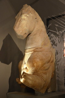 The Lanuvium marbles, sculptures of cavalrymen and horses commissioned by a Roman general called Lucullus in the 1st century BC, they are based on original bronze statues of Alexander the Great's bodyguards, Leeds City Museum
