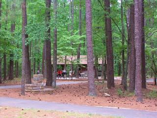 William B. Umstead State Park pavilion