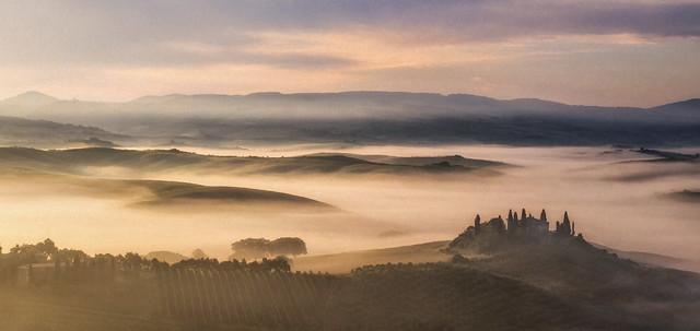 Belvedere sunrise with fog