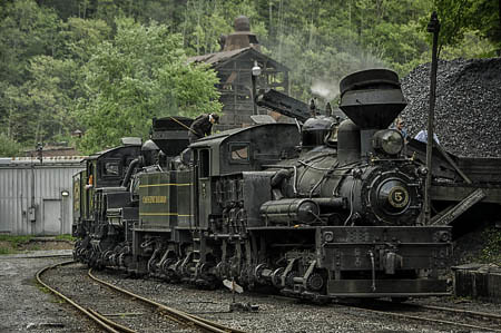 Shay #4 & #5 at Cass RR State Park, WV