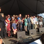 "Sun, 04/08/2013 - 6:24pm - All hands on deck for the closing song, ""Never Turning Back"""