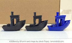 #3DBenchy 3D-print and image by Jakub Papaj lemonde3d.com