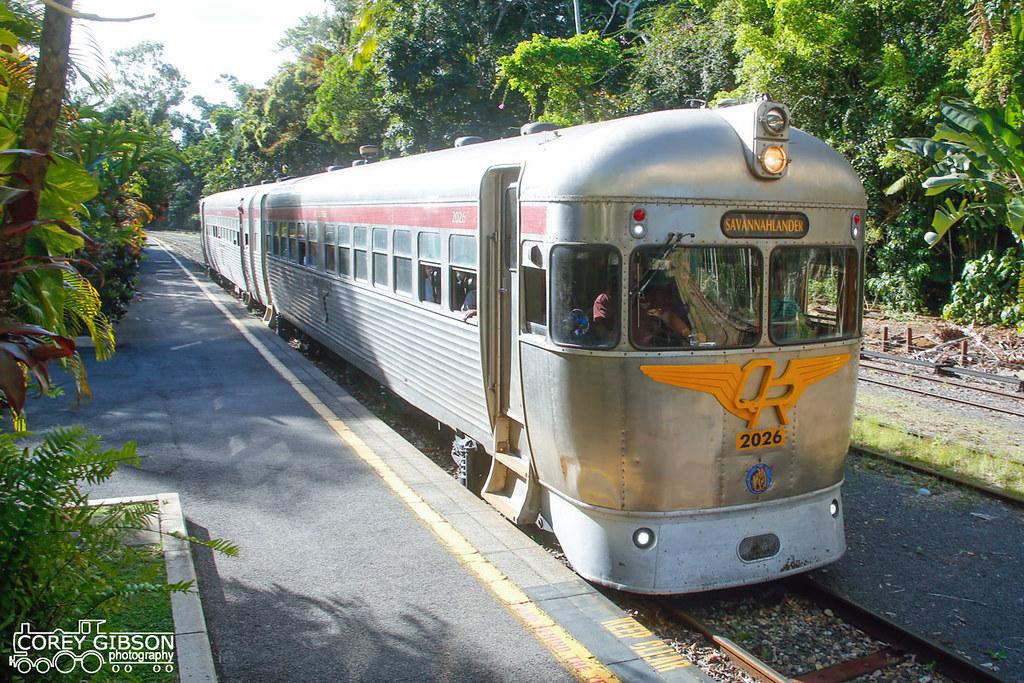 The Savannahlander arrives at Kuranda Station by Corey Gibson