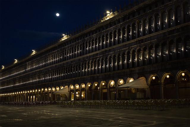 Sleeping San Marco Square, Venice, Italy
