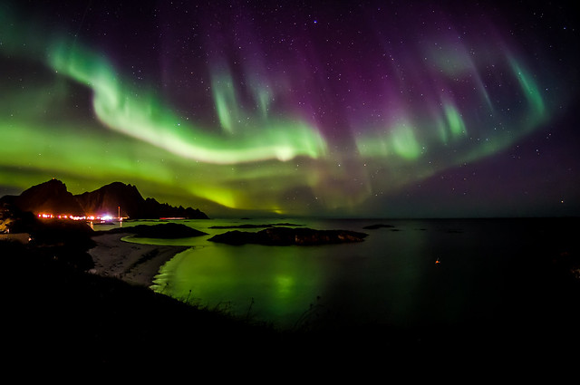 Andenes, Norway and Aurora borealis