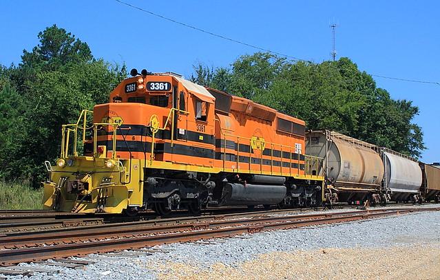 Alabama Gulf Coast Railroad AGR 3361 (SD40-2) Columbus, Mississippi