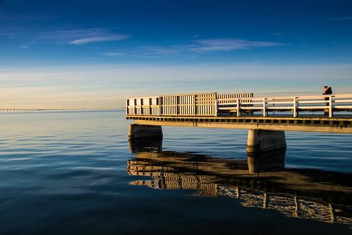 horizon is winter nature water brygga3 sweden outdoor beach öresund malmö strand sky spegling himmel reflection ice skånelän sverige se