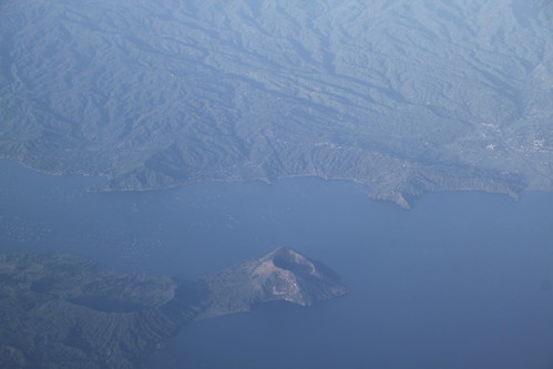 philippines aerialview volcano taal