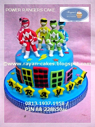 Pleasing Power Rangers Birthday Cake Fondant Kue Ulangtahun Anak Flickr Personalised Birthday Cards Veneteletsinfo