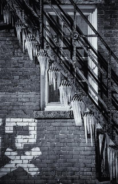 icicles fire escape and graffiti LG-