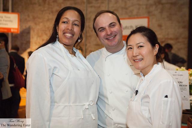 Executive Pastry Chef Miroslav Uskokovic with his team at Gramercy Tavern