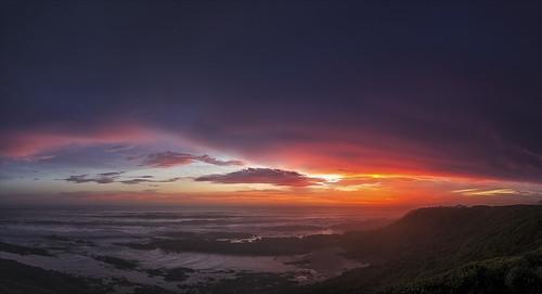 sunset panorama indianocean dri portelizabeth schoenmaakerskop