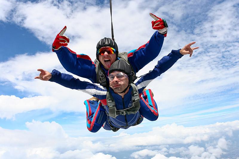 Skydiving in Victoria, Vancouver Island, British Columbia, Canada.