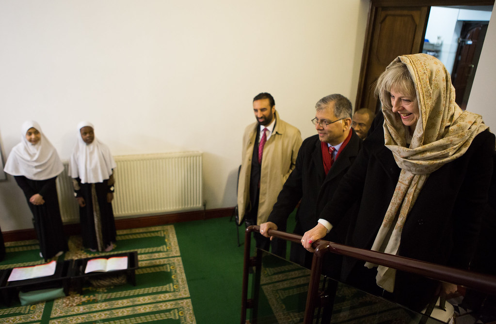 Theresa May visits Al Madina Mosque | Image ©Licensed to i-I… | Flickr