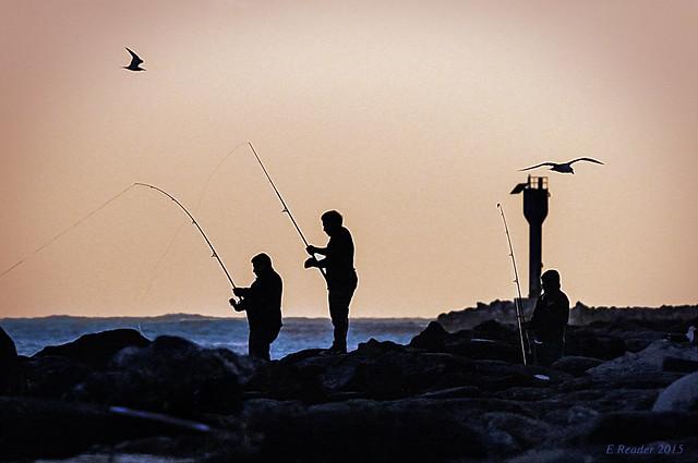 Three Fishermen at Twilight