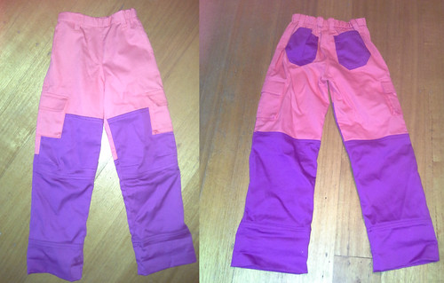 Pink and purple field trip cargos