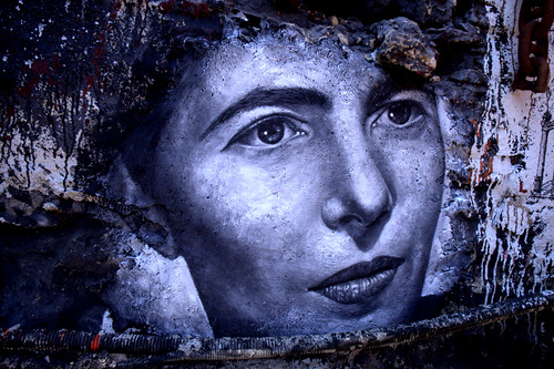 Simone De Beauvoir, painted portrait