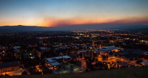 city sunset usa choir night fire lights montana smoke m missoula pedavoces pwpartlycloudy