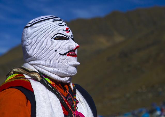 Masked Ukuku At Qoyllur Riti Festival, Ocongate Cuzco, Peru