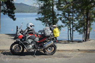 Rest stop along Payette Lake in McCall