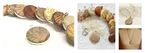 Embellished button pendants