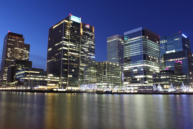 Canary Wharf from South Dock - London